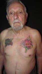 André, deuxième tatoauge à 88 ans !